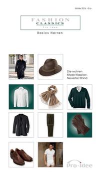 pro idee versand fashion classics basics herren pro idee online katalog winter 2016. Black Bedroom Furniture Sets. Home Design Ideas